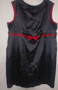TORRID Black Red Satin White Dot Dress 3X Plus